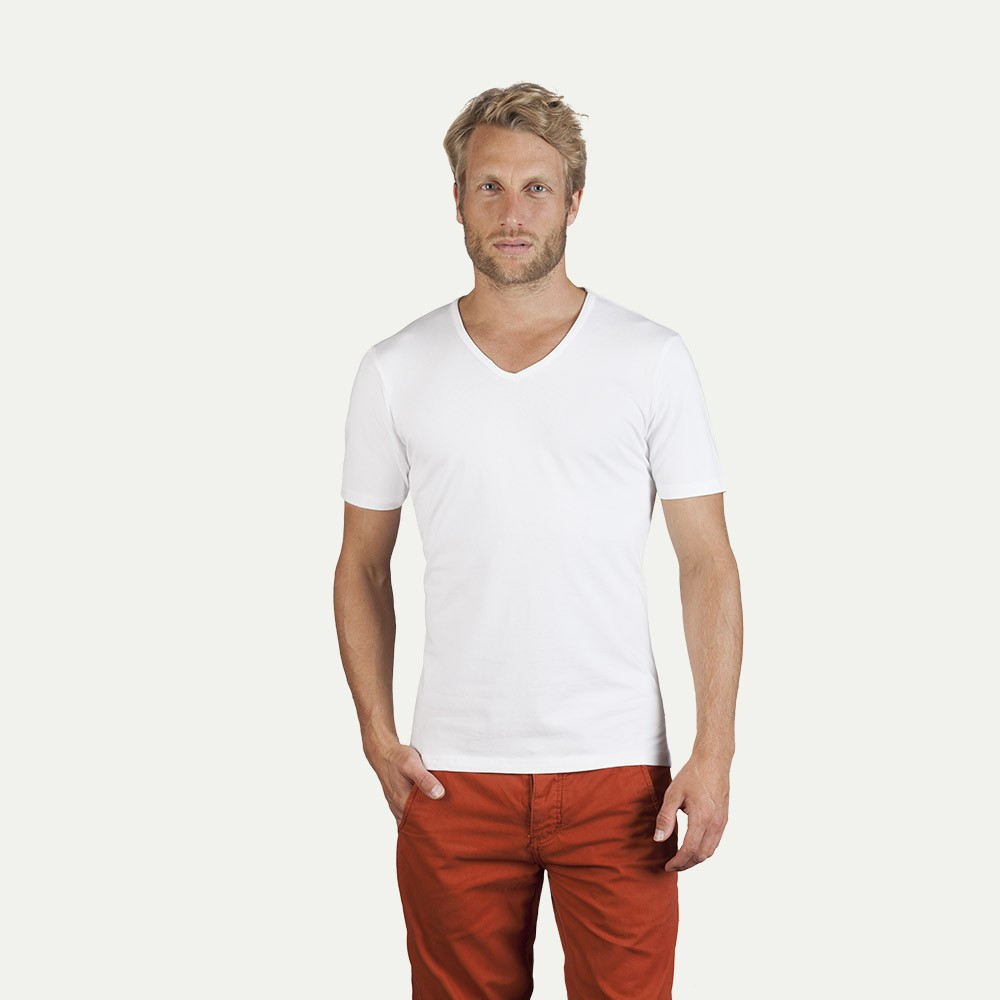 Men s slim fit v neck t shirt Fitness shirts for men