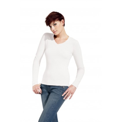 T-shirt femme ML col V