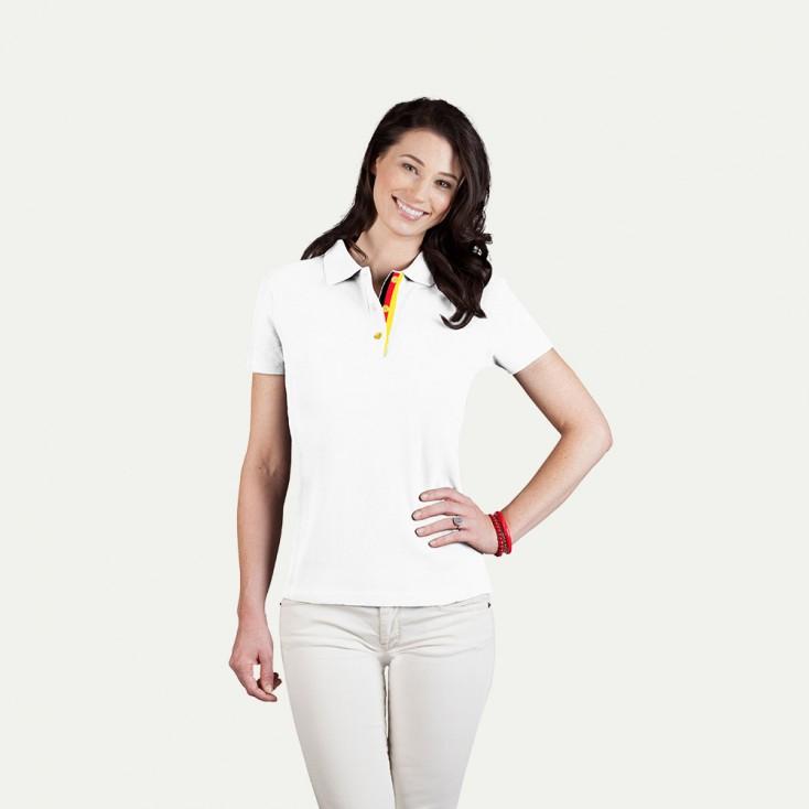 Fanshirt Deutschland Poloshirt Plus Damen