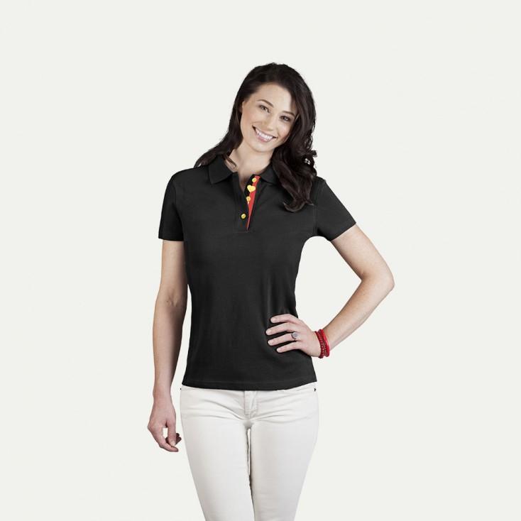 Fanshirt Belgien Superior Poloshirt Damen