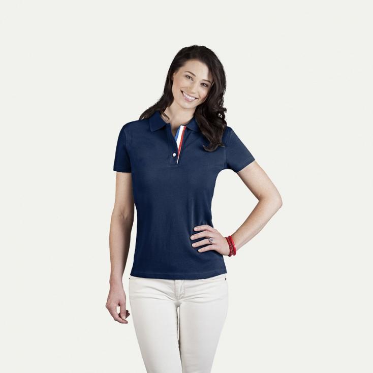 Fanshirt Frankreich Poloshirt Damen