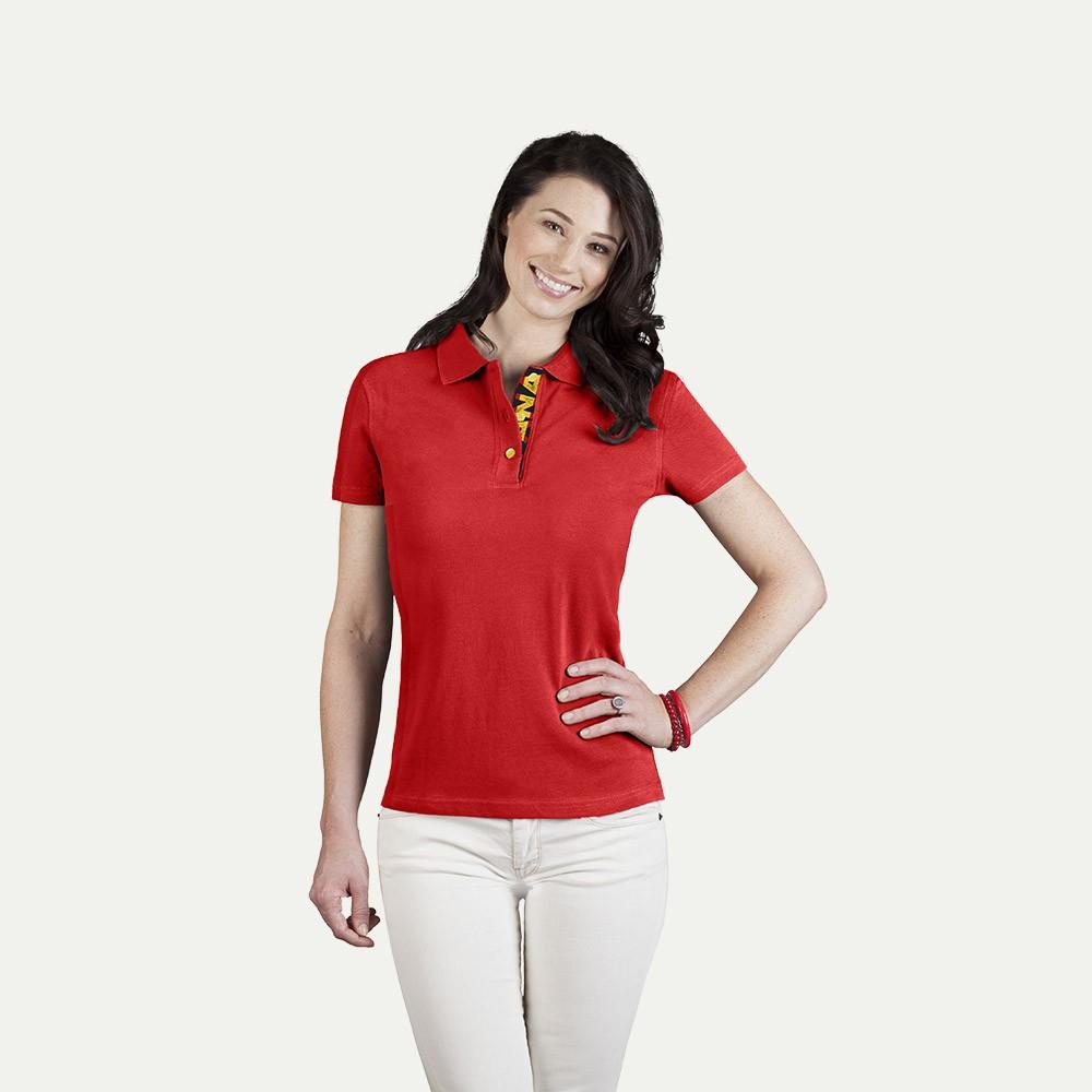 Women 39 s fan polo shirt spain for Spain polo shirt 2014