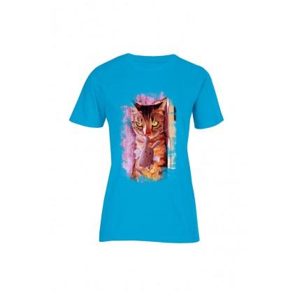 T-shirt bio imprimé Mr Croquette - Femme