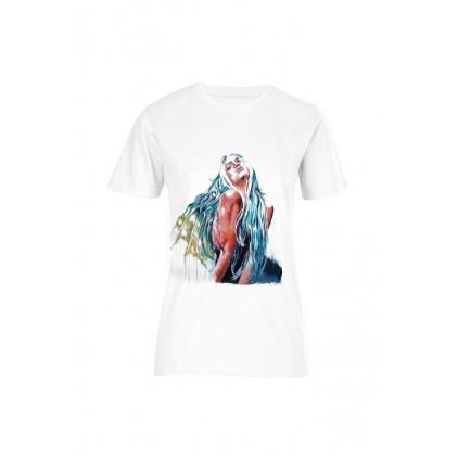 Ange ou démon - Artiste : G. Color - T-shirt bio femme