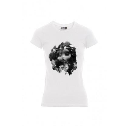 Rosa Moon - Artiste : A. Grember - T-shirt Slim Fit femme