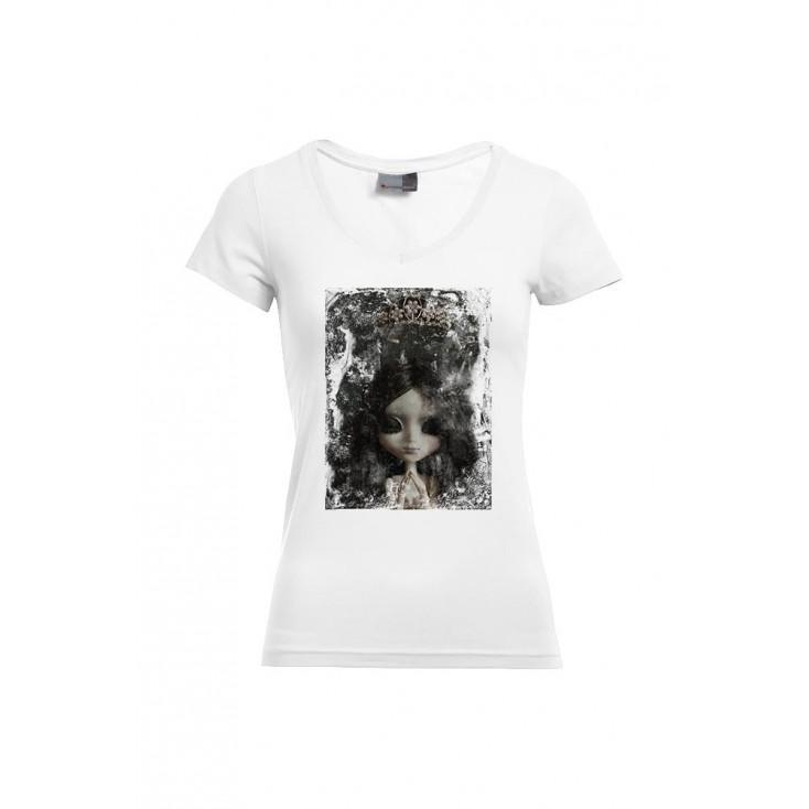 Le Couronnement - Artiste : A. Grember - T-shirt Slim Fit femme col V