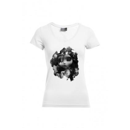 Rosa - Artistin: A. Grember - T-shirt Slim Fit femme col V