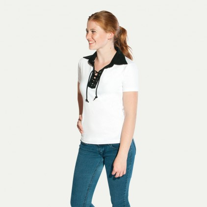 Retro Poloshirt Damen Sale