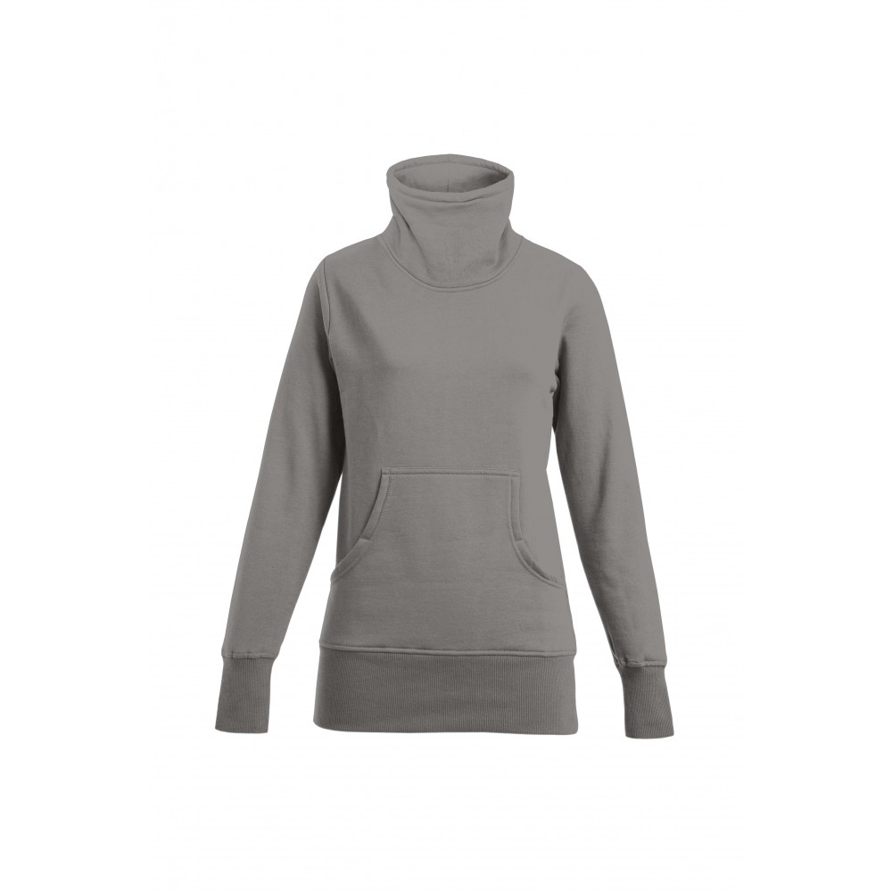 promodoro rollkragen sweatshirt in grau f r damen. Black Bedroom Furniture Sets. Home Design Ideas
