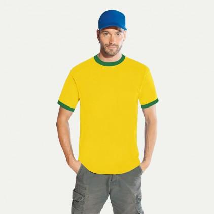 Kontrast T-Shirt Gold-Grün Herren Sale