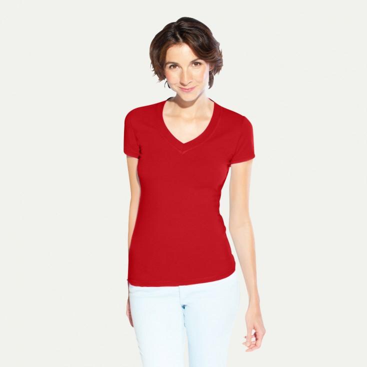 T-shirt femme col en V