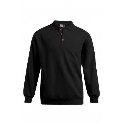 Polo sweat manches longues grande taille Hommes