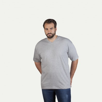 T-shirt Premium col V grande taille Hommes