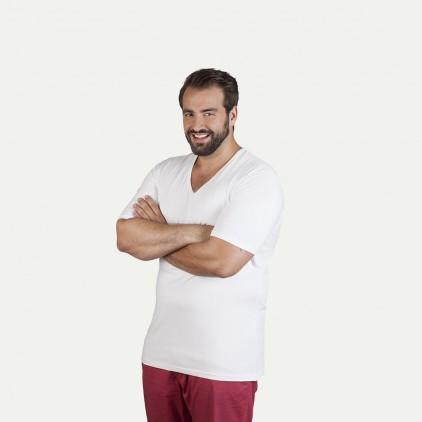 Slim-Fit V-Neck T-Shirt Plus Size Herren