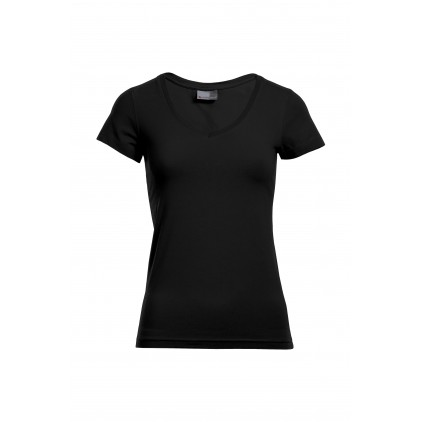 V-Neck T-Shirt Slim Fit Plus Size Damen