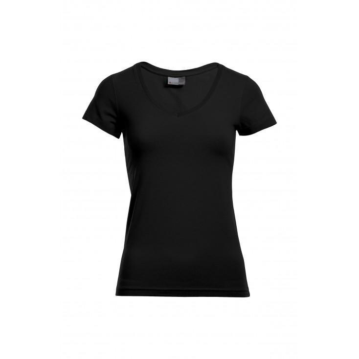 T-shirt slim col V grande taille Femmes