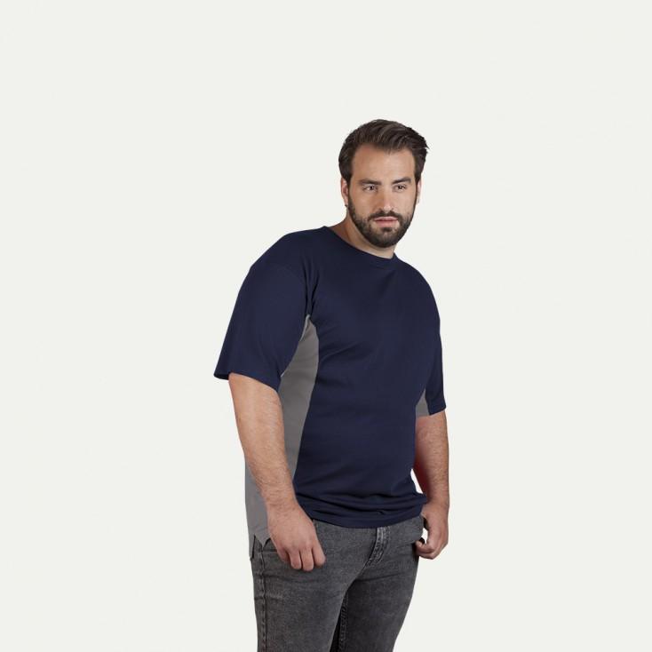 Unisex Funktions Kontrast T-Shirt Plus Size Damen und Herren