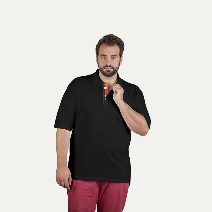 Fanshirt Belgien Superior Poloshirt Plus Size Herren