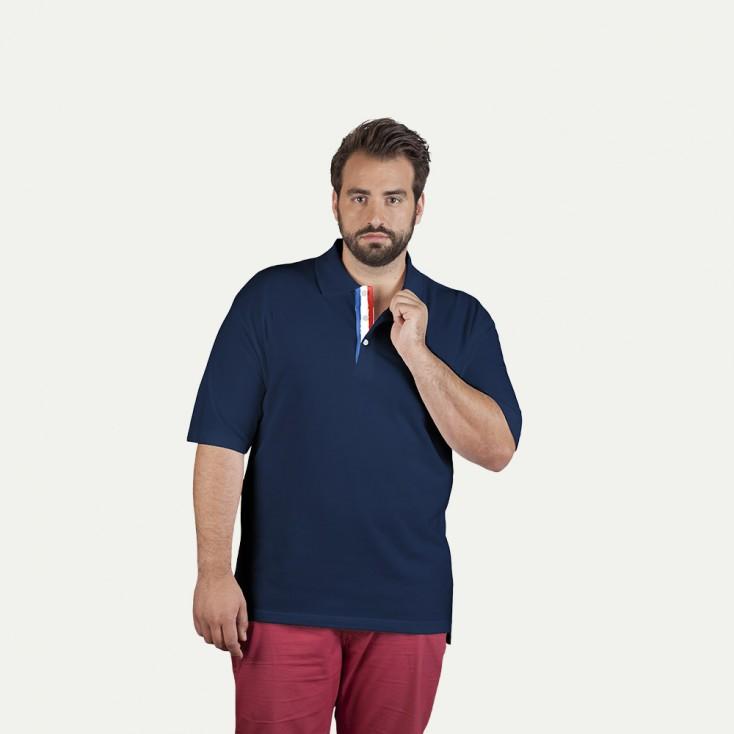 Polo supérieur Fan France grande taille Hommes