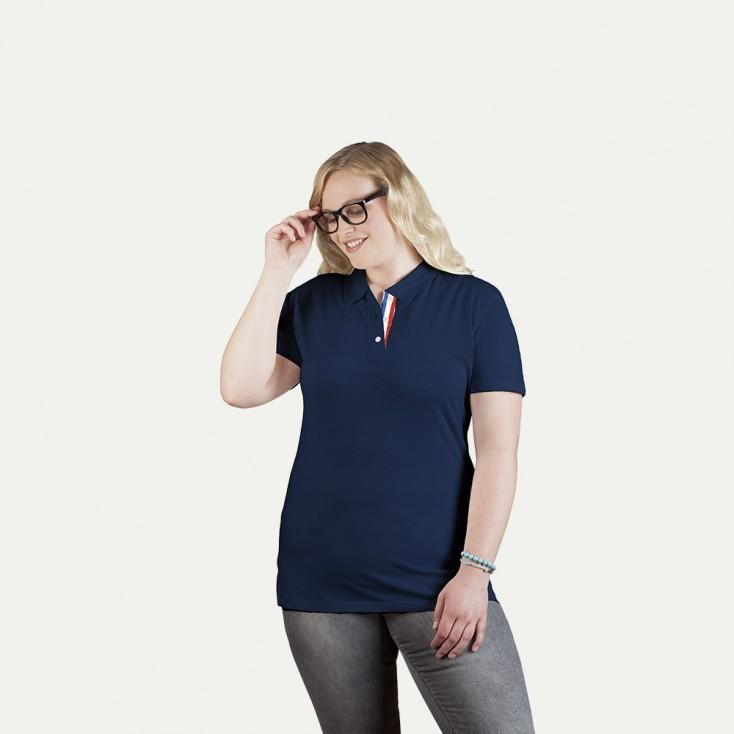 Fanshirt Frankreich Superior Poloshirt Plus Size Damen