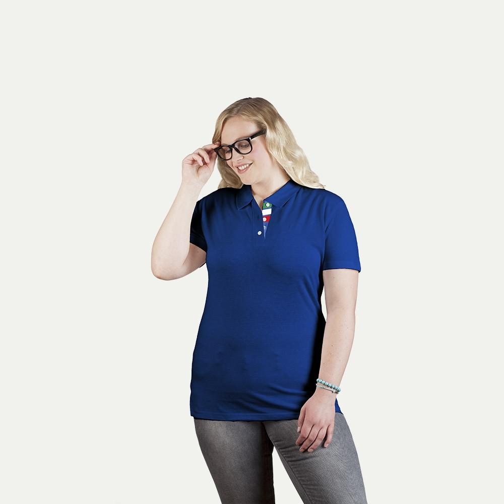 Superior polo shirt fan italy plus size women for Plus size golf polo shirts