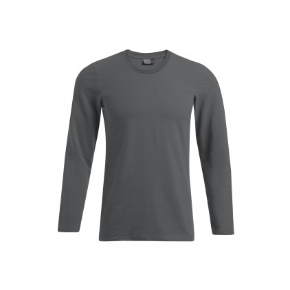 T-shirt slim manches longues grande taille Hommes