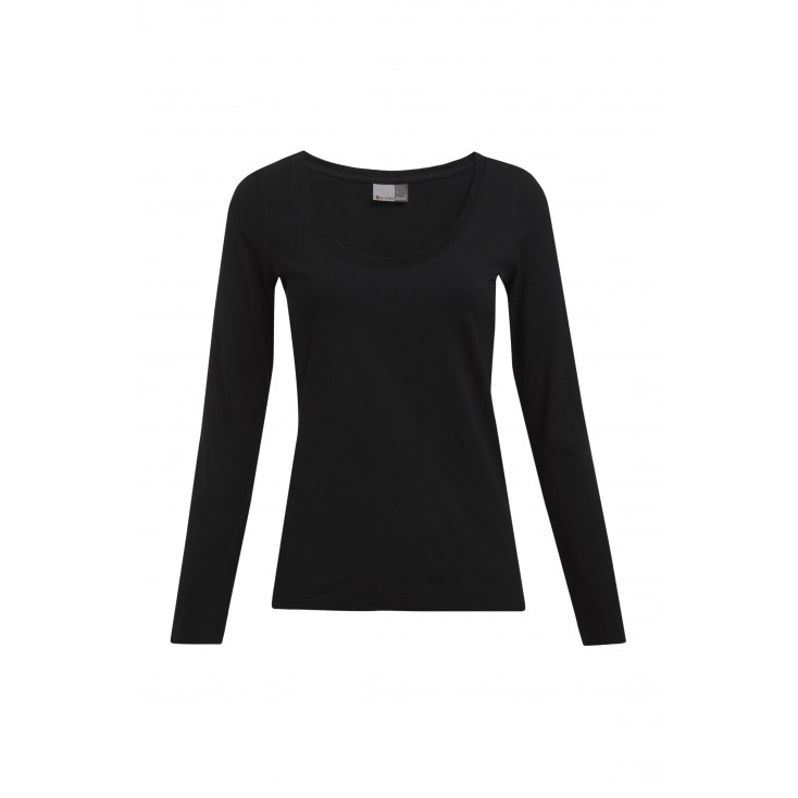 Slim-Fit Langarmshirt Plus Size Damen