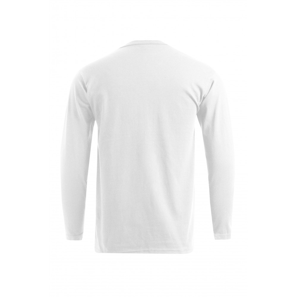 Polo sweat manches longues grande taille Hommes, blanc