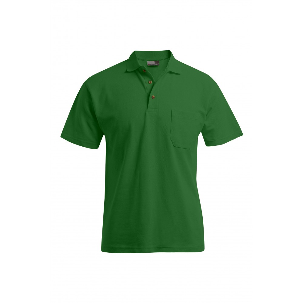 Polo épais grande taille Hommes promotion, vert kelly