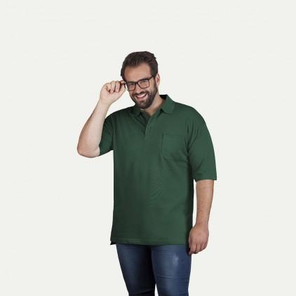 Heavy Poloshirt mit Brusttasche Plus Size Herren