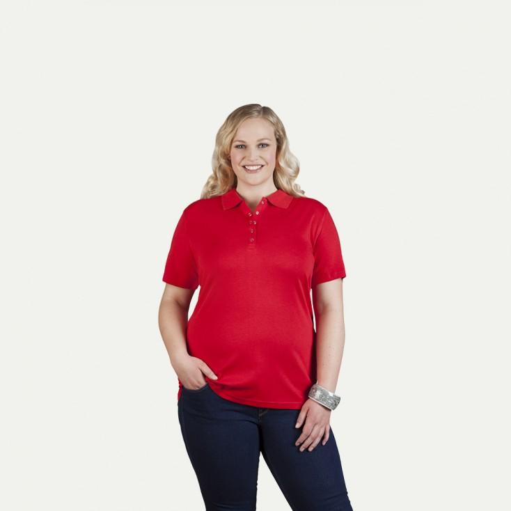 Polo femme en jersey