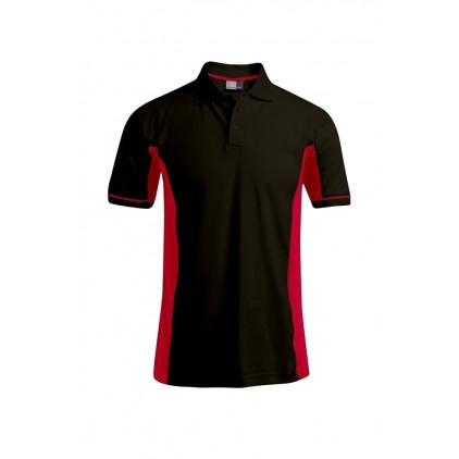 Funktions Kontrast Poloshirt Plus Size Herren