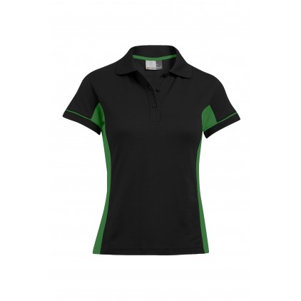 Funktions Kontrast Poloshirt Plus Size Damen
