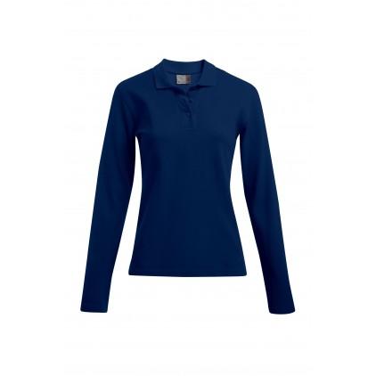 Heavy Langarm-Poloshirt Plus Size Damen