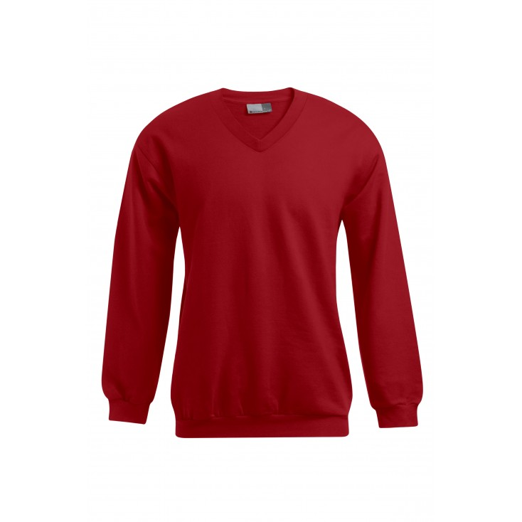 Premium V-Neck Sweatshirt Plus Size Men