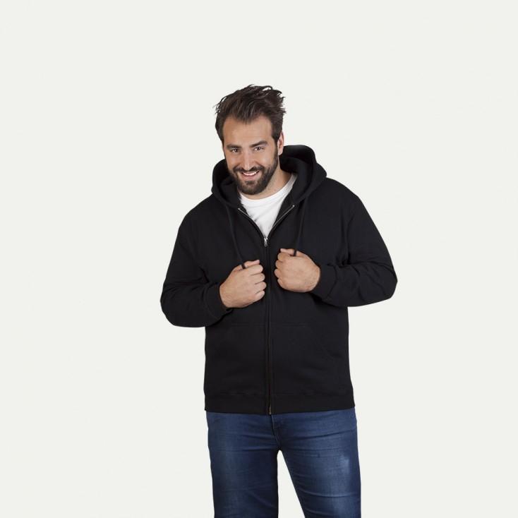 Cotton Zip Hoody Jacket Plus Size Men