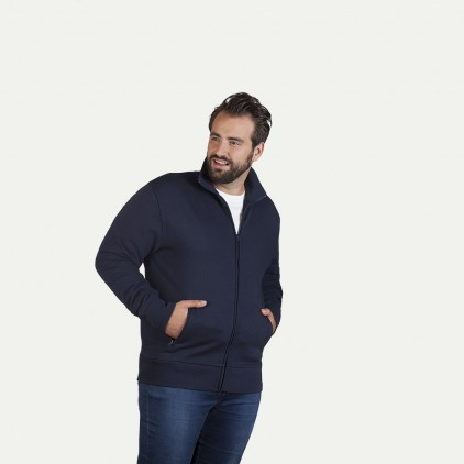 Stand-Up Collar Jacket Plus Size Men
