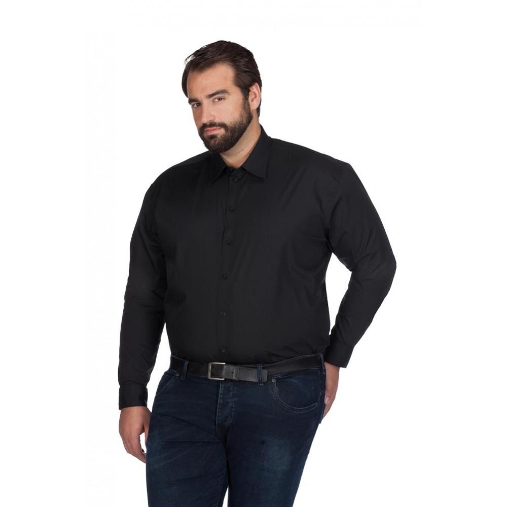 Men 39 s poplin shirt longsleeve plus size for Plus size men shirts