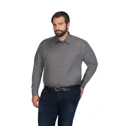 Chemise en popeline homme manches courtes grande taille