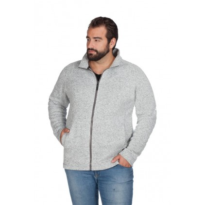 Herren Strick-Fleece Jacke