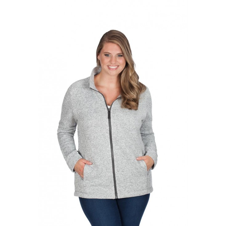 Damen Strick-Fleece Jacke C+