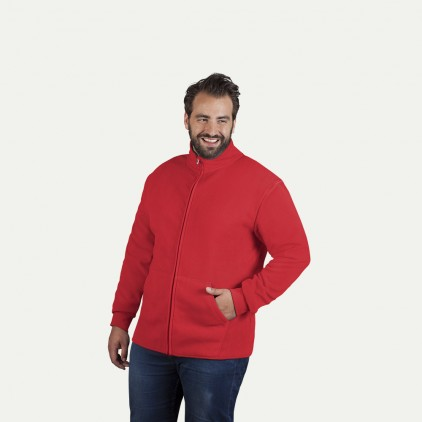 Doppel-Fleece Jacke Plus Size Herren