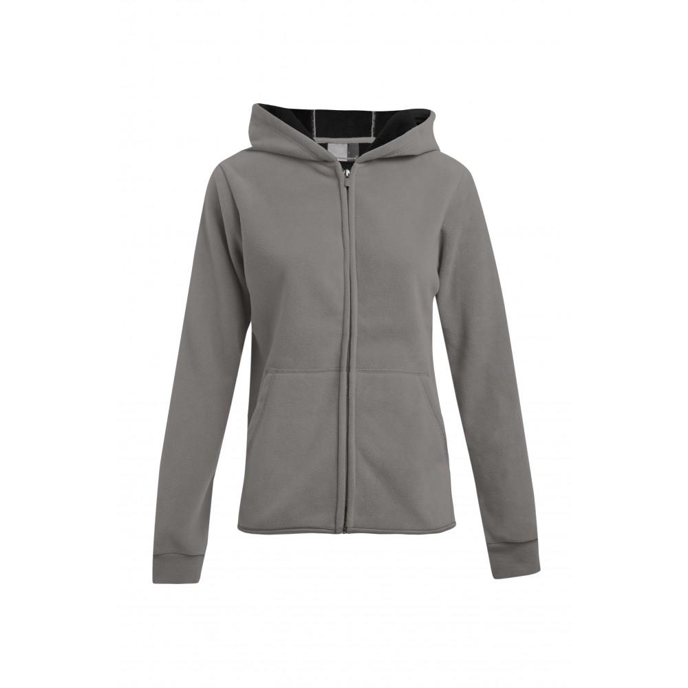 Doppel Fleece Zip Hoodie Jacke | Damen | Plus Size | promodoro