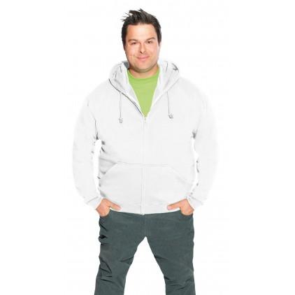 Veste sweat capuche zippée coton grande taille Hommes promotion