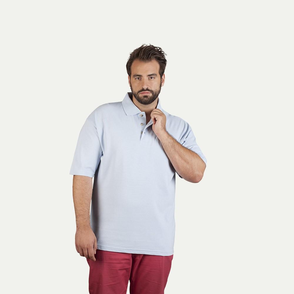 Polo épais grande taille Hommes promotion, gris foncé mélange