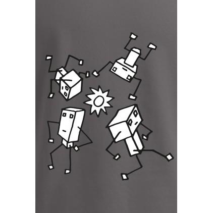 "Print ""Sundance Robots"" - Herren Premium T-Shirt Plus Size"