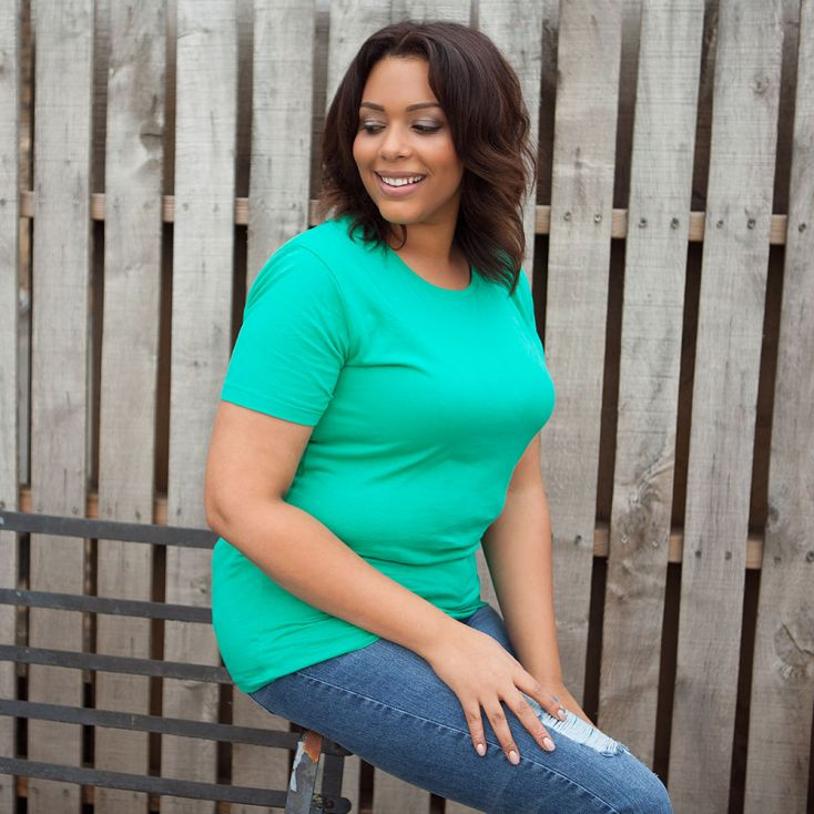 Bio T-Shirt Plus Size Damen emerald