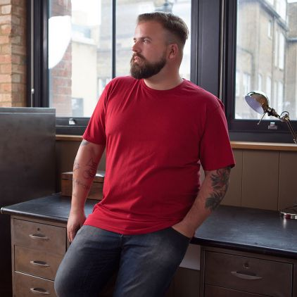 Premium T-Shirt Plus Size Herren fire red