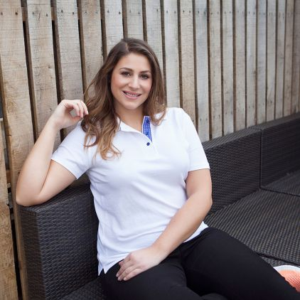 "Polo supérieur ""Graphic"" 505Ab grande taille Femmes"