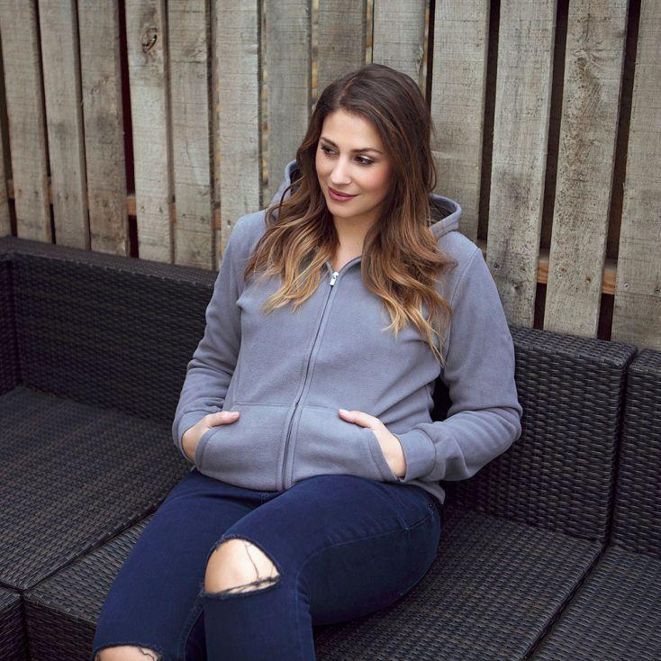 Double Fleece Hoody Jacket Plus Size Women